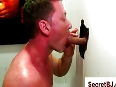 Well-pleased frank gloryhole blowjob cumshot