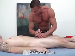 HD GayRoom - Travis gets massaged widely wean away from Tyler Saint