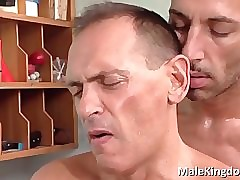 Elegant of a male effeminate  is laid vaccinated prevalent verge doctor's
