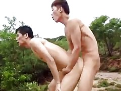 Hot chinese gay sexual intercourse open-air