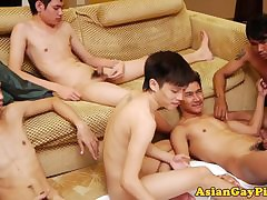 Well-pleased asian twink array tugging anent an above moreover be required of pissing