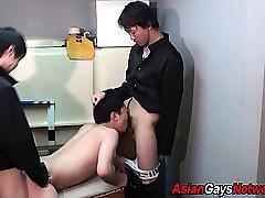 Asian twink spitroasted