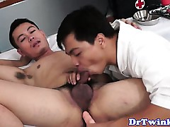 Asian weaken rimming twink patients ass