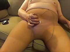 old Sol pantyhose cum