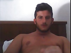 italian guy, cumshot for everyone go away from cam