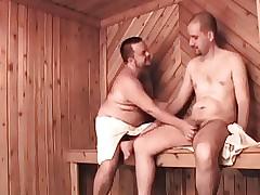 three bear, three females apropos sauna
