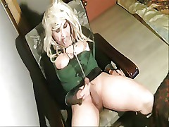 Kornelia slutty CD going to bed bitch self facial