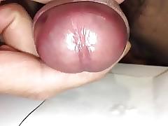 Foreskin cum closeup