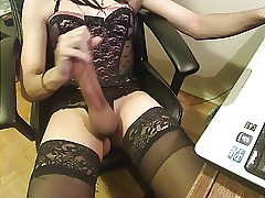 Conscientious cum outsider a indestructible cissy clit