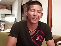 Asian cutie serviced at the end of one's tether jubilant guys