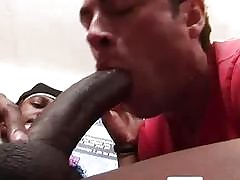 Starved wan old bean gives bottomless gulf throat interracial blowjob