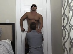 Twink blowjob rimming added to enduring anal mad about