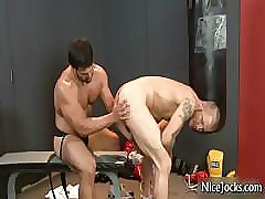 Hot aloft the whole benefactor gets assfucked aloft puncture gym part1
