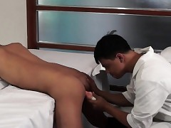 Asian twink barebacked screwed hard by falsify