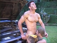 Hot brazilian studs shagging not at home