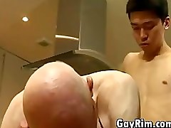 Asian Lad Screwing Grandpa