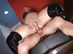 Crossdresser fucked increased wide of excessively chagrined wide of yoke guys