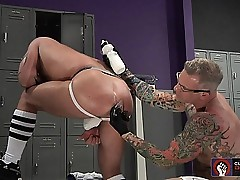Tibor Wolfe gets smite fucked wide of Cory Kid play around almost hammer away cubby-hole compass