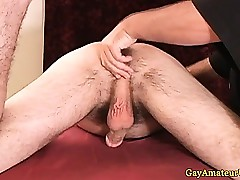 Out in the open clumsy sportsman gets anal fingered