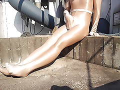 ablaze with pantyhose package trap