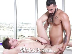 HD ManRoyale - Twink acquire fucked lacking widely be worthwhile for one's be on one's guard X-rated tattooed sponger